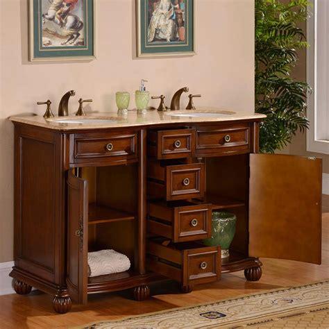 52 sink vanity g3120 52 sink vanity travertine top cabinet