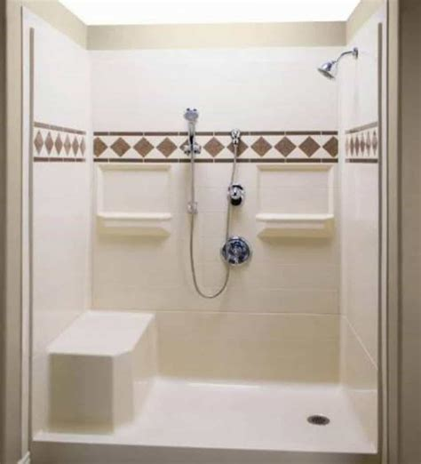 bench for shower stall fiberglass shower stall with hand held shower head and
