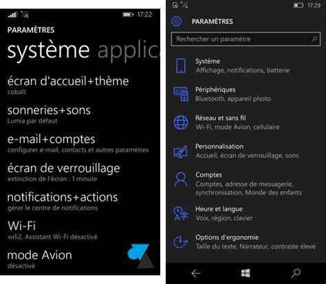 windows 10 win10 wp8 windows phone wp8 comparatif windows phone 8 et windows 10 mobile
