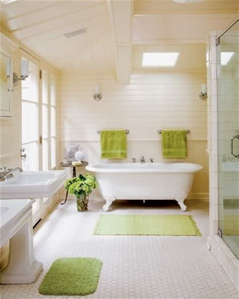 bathroom accents in the summer hues light green