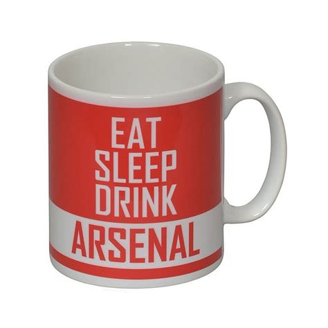 arsenal gifts arsenal personalised eat sleep drink mug