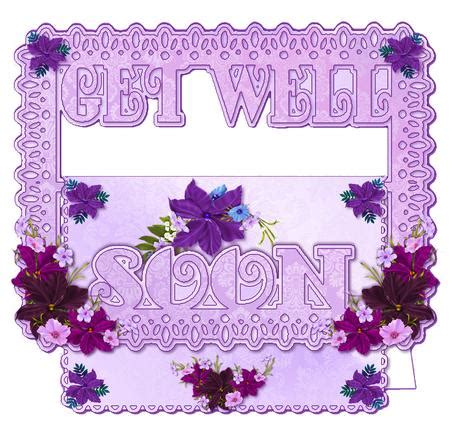 get well card template mini cards get well soon lilac buckle card mini kit cup442173 38