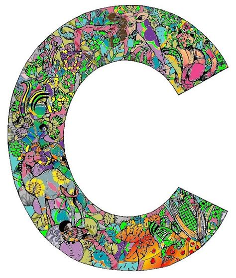 "Colored-in letter ""C"" | ""C"" for Chiara | Pinterest C"