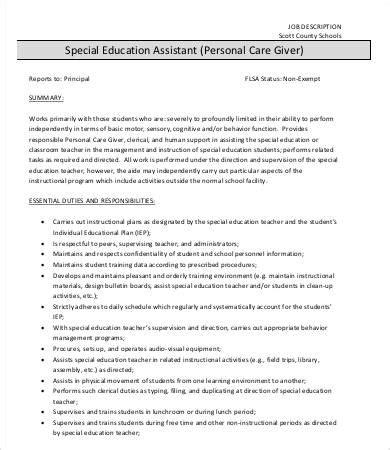9 caregiver description templates free premium