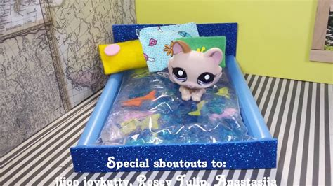 lps beds doll diy doll water bed for lps mini dolls diy no sew