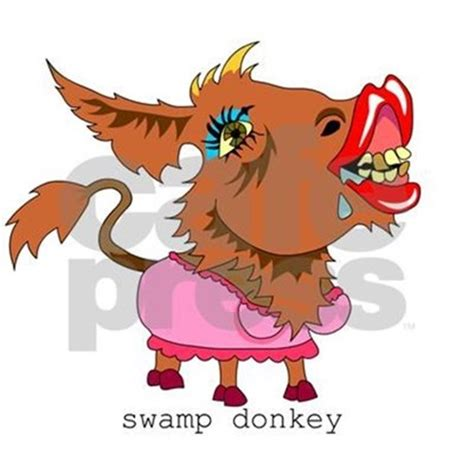Square Wall Stickers swamp donkey rectangle decal by superbug