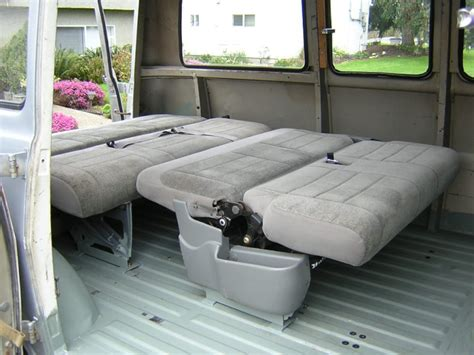 fold down bench seat for van mattress ideas for the van