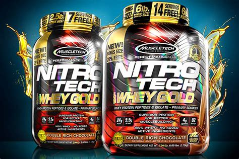 Muscletech Nitrotech Whey Gold 6lb nitro tech whey gold although only in one size and two of