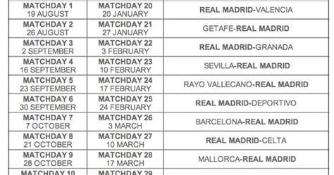 Calendrier Liga Bbva Real Madrid Calendrier Des Matchs Liga Bbva 2012 2013 Et Date De
