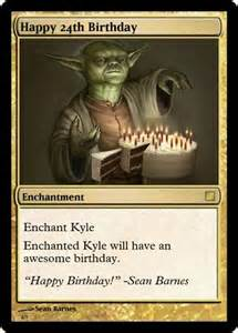 magic the gathering birthday card dumbledore mixed bag kyle s b day cards