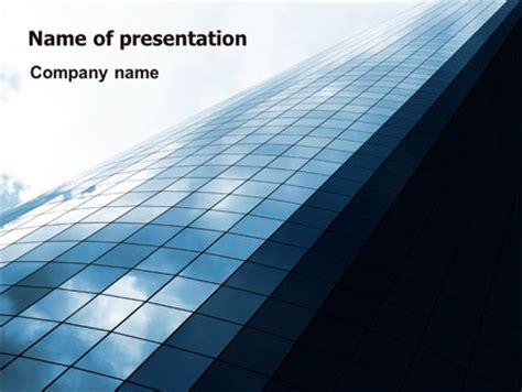 hi tech building presentation template for powerpoint and