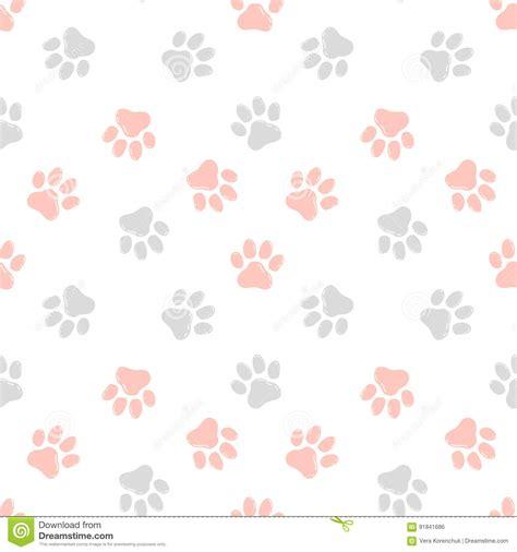 cute animal pattern background cute seamless pattern with paw prints animal background