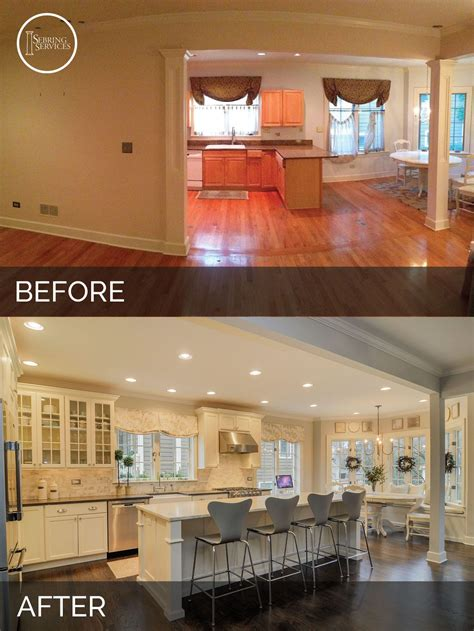 before and after decor before and after kitchen remodeling sebring services