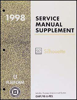 service and repair manuals 1998 oldsmobile silhouette free book repair manuals 1998 olds silhouette premiere entertainment system repair shop manual