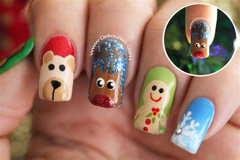 imagenes de uñas decoradas de tigre decoraci 243 n de u 241 as navidad reno navide 209 o youtube