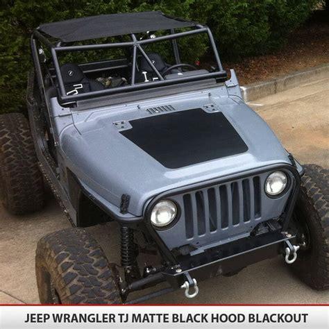 blackout jeep blackout vinyl decal for jeep wrangler tj 97 06