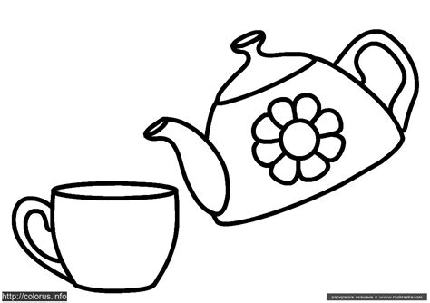 Free Coloring Pages Of Teapots And Teacups Teapot Coloring Page