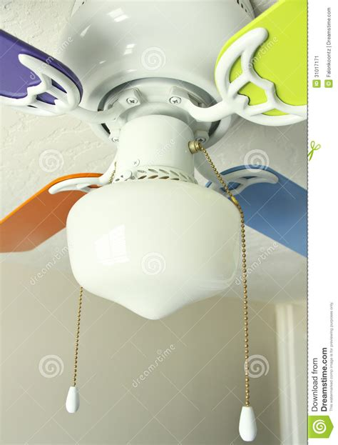 multi colored ceiling fan stock image image of electrical