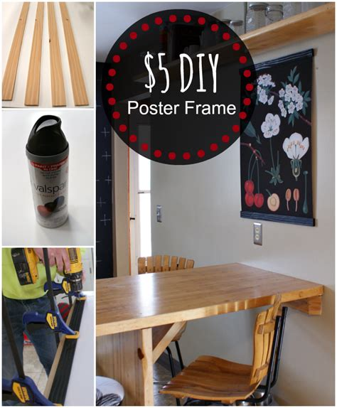 diy poster frame how to make a poster frame easy and inexpensive way to make a custom frame for artwork prints