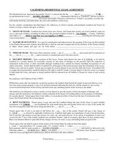rental agreement template california best photos of free residential lease agreement