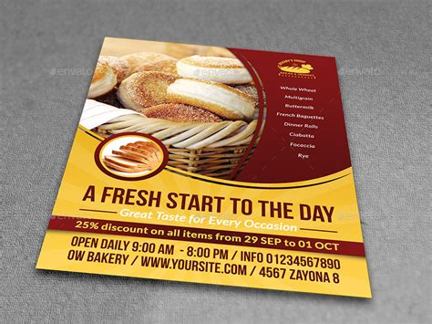 Bakery Advertising Bundle Vol 2 By Owpictures Graphicriver Bakery Flyer Templates Free