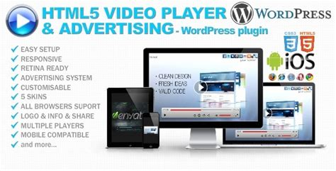html5 video player advertising wp plugin codeholder net