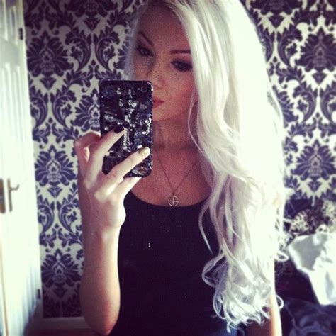 images of hair bleached white forget about gray these looks will make you want to dye