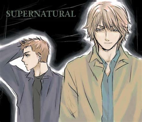 anime supernatural sam and dean supernatural anime style drawings