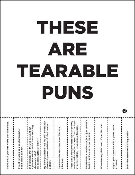 Pun Lit by Tearable Puns Groan Take One