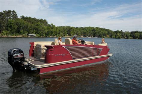 larson pontoon pdb tests new larson pontoon pontoon deck boat magazine