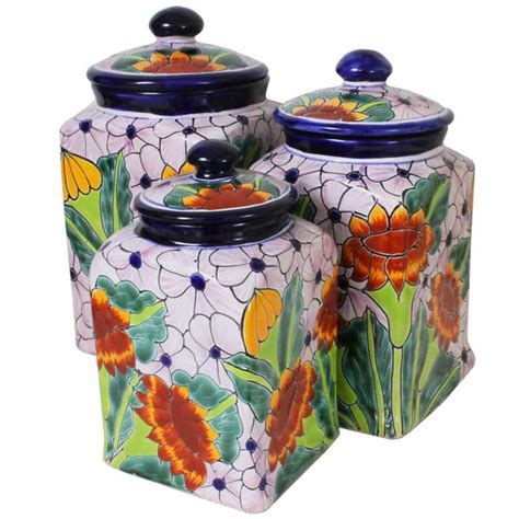 pottery kitchen canisters talavera kitchen canisters collection talavera kitchen