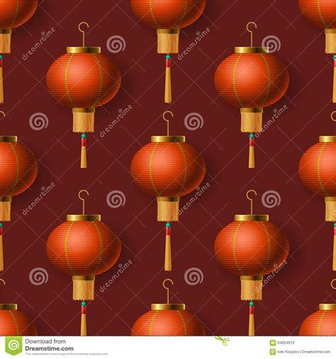 new year lanterns map new year lanterns seamless pattern stock vector