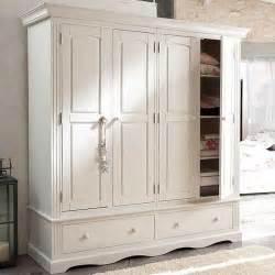 armoire 4 portes 2 tiroirs norman blanc achat vente