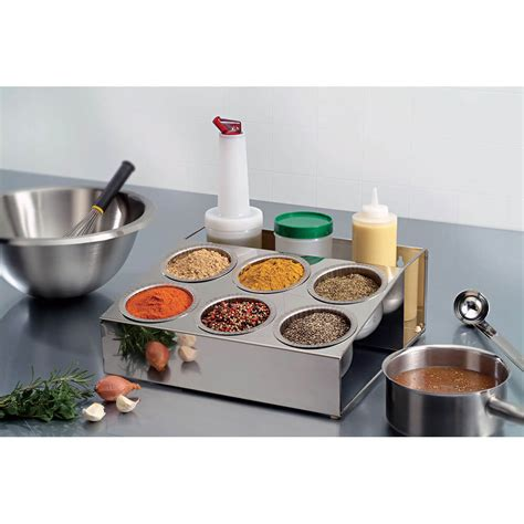 Spice Caddy Matfer Bourgeat Stainless Steel Condiment Caddy Spice