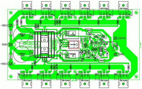 pcb design circuit diagram 500w rms power lifier based mosfet schematic design
