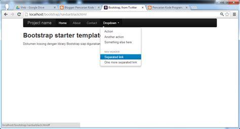 tutorial custom navbar bootstrap tutorial pemrograman dan source code android web mobile