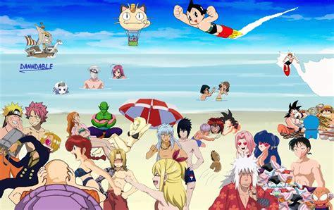 anime on beach beach party more fun by danndable on deviantart