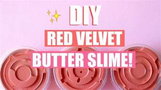 diy red velvet cake butter slime with real cocoa powder easy slime recipes youtube