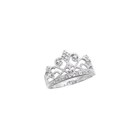 tiara ring 10k white gold jewelry and shoes