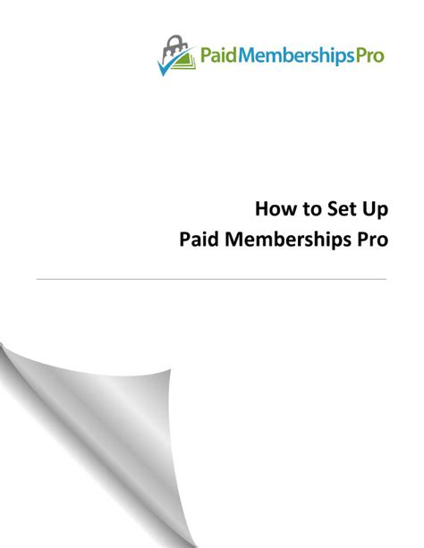 how to set up paid memberships pro paid memberships pro membership plugin