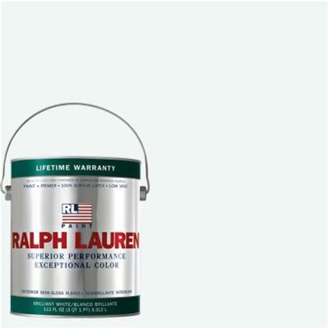ralph 1 gal brilliant white semi gloss interior paint rl1001s the home depot