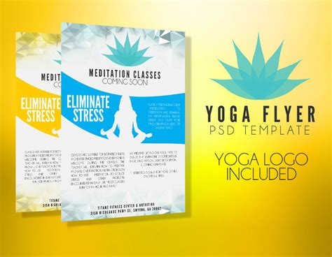 templates for yoga flyers yoga flyer template psd flyer templates graphicfy