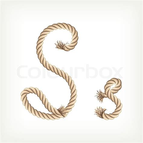 printable rope letters rope alphabet letter s vector colourbox