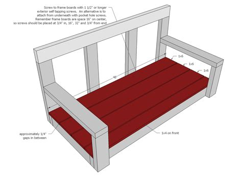 simple porch swing plans ana white shanty2chic porch swing diy projects
