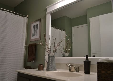 diy bathroom mirror frame how to make a frame for a mirror interior home design