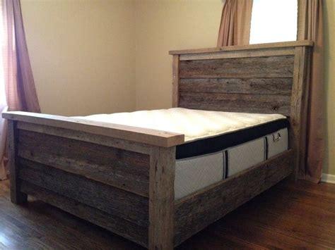 barn wood queen bed frame  amazing barn wood ideas