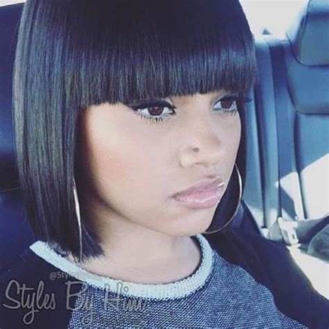 sew in bobs on doll stylist feature love this blunt cut bob styled by
