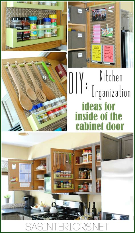 Small Kitchen Cabinet Storage Ideas Kitchen Organization Ideas For The Inside Of The Cabinet Doors Burger