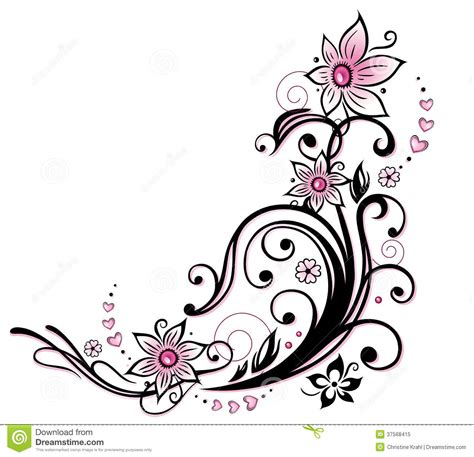 colorful flower tattoos designs royalty free images no tribal flower border clipart