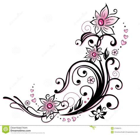 tribali fiori decoration cliparts